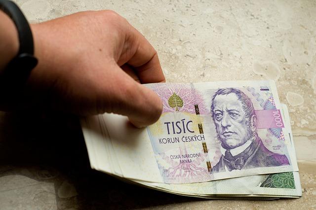 pokládání peněz