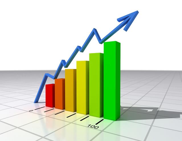 rostoucí graf směrem nahoru