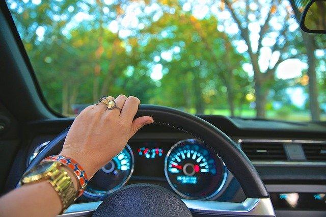 řízení auta, volant
